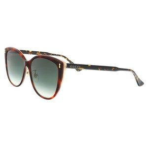 Gucci GG0193SK 004 Red Havana Cat Eye Sunglasses